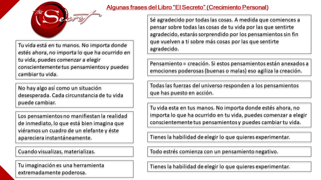 Frases del libro El Secreto