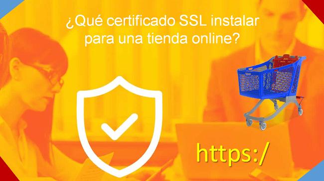 qué certificado instalar para una tienda online