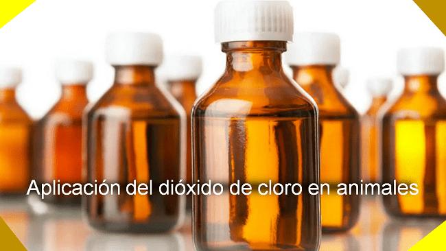 aplicación de dióxido de cloro en animales