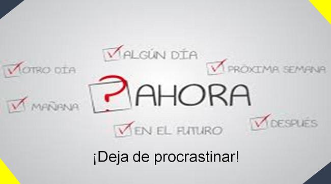 deja de procrastinar