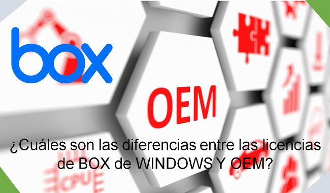 diferencias entre OEM y BOX de WINDOWS