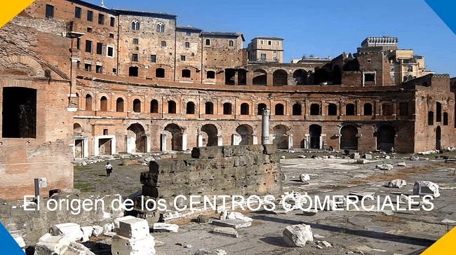 origen de los centros comerciales
